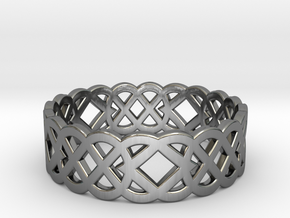 Size 10 Knot C4 in Fine Detail Polished Silver