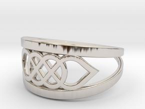 Size 7 Knot C6 in Platinum