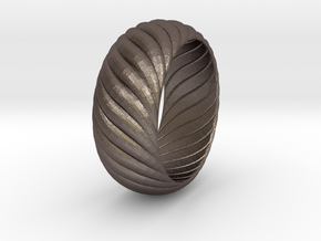 SPIRAL 1 SIZE 9.5 in Polished Bronzed Silver Steel