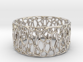 Frohr Design Easy Radiolaria Bracelet in Rhodium Plated Brass