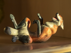 Laughing Fox in Full Color Sandstone