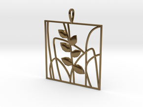 Plant and grass Alhendin pendant in Polished Bronze