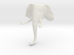 Elephant Clothes-Hanger in White Natural Versatile Plastic