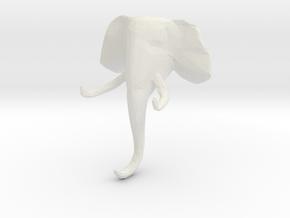 Elephant Clothes-Hanger in White Natural Versatile Plastic