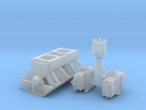 1/43 BBC Tunnel Ram For Symetric Port Heads in Smoothest Fine Detail Plastic