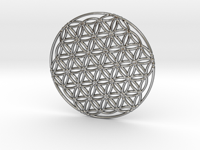 Flower of Life in Fine Detail Polished Silver