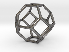 0268 Truncated Octahedron E (a=1сm) #001 in Polished Nickel Steel