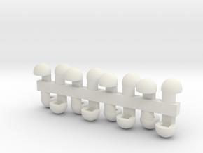 Arcadia Zero Hip Nub in White Natural Versatile Plastic