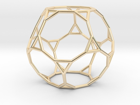 0270 Truncated Dodecahedron E (a=1cm) #001 in 14K Yellow Gold