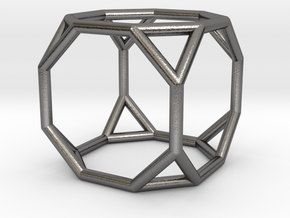 0271 Truncated Cube E (a=1cm) #001 in Polished Nickel Steel