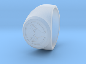 Signet Ring Deer Logo 19mm men in Smoothest Fine Detail Plastic