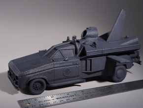 "Buckaroo Banzai Jet Car MK III - 1:25 Scale - 9.5"" in Black Strong & Flexible"