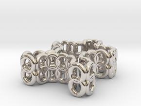 mini puzzle piece in Platinum