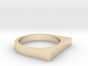 Minimal Square Top Ring, Size 7 in 14k Gold Plated