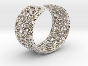 Frohr Design Radiolaria Bracelet Dec/01 in Rhodium Plated Brass