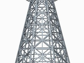 Tesla Tower Miniature in White Natural Versatile Plastic