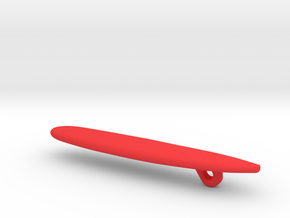 Surfboard Christmas Tree Ornament - Longboard in Red Strong & Flexible Polished