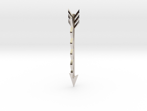 Arrow Bobby Pin in Rhodium Plated Brass