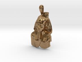 Ramesses II, Ozymandias, pendant in Natural Brass