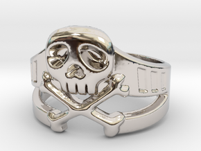 Space Captain Harlock | Ring Size 9 in Rhodium Plated Brass: 9 / 59