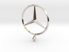 Mercedes Benz Star Ø 75mm  in Rhodium Plated Brass
