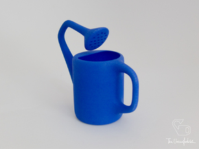 The Uncomfortable Watering Can (10cm height) in Blue Processed Versatile Plastic