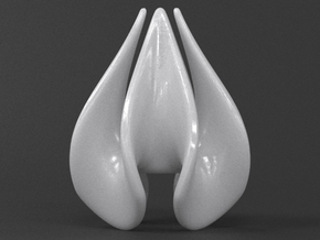 Teardrop Quatrefoil in White Strong & Flexible Polished