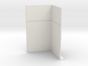 Corner Wall; Inside in White Natural Versatile Plastic