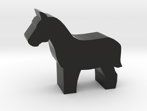 Horse Meeple in Black Natural Versatile Plastic