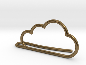 Cloud tie bar in Polished Bronze
