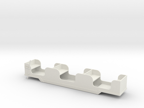 Stapleford Miniature Railway Brake Coach in White Natural Versatile Plastic