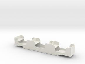 Stapleford Miniature Railway Brake Coach in White Strong & Flexible