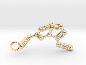 Azidoazide Azide Molecule Keychain in 14k Gold Plated Brass