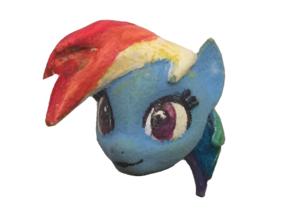 Custom Rainbow Dash My Little Lego Pony in White Strong & Flexible Polished