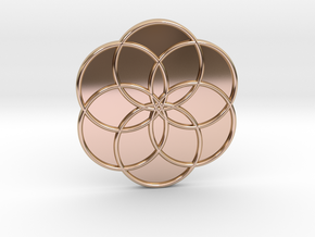 Flower of Life in 14k Rose Gold Plated Brass