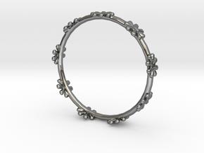 Bangle Design in Fine Detail Polished Silver