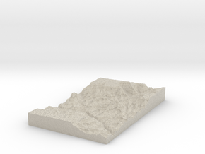 Model of Jones Point in Sandstone