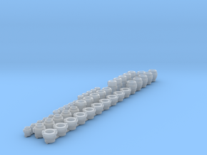 """1.5,2 and 4"""" hose fittings 1/24 scale in Smooth Fine Detail Plastic"""