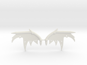 Oryx Wing Sprue in White Natural Versatile Plastic