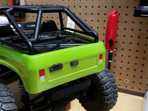 Axial SCX10 1/10 Scale Tailgate Latch in White Strong & Flexible Polished