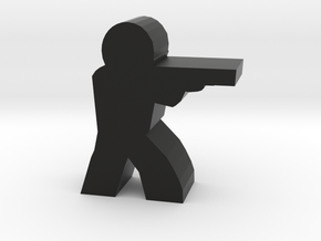 Game Piece, Character with Shotgun, Aiming in Black Strong & Flexible
