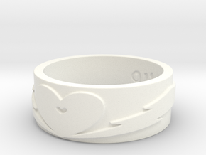 with love and care Ring Size 9 in White Processed Versatile Plastic