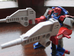 CW 'GROOVE' Guns (Twin) inspired by G1 Override in Polished Metallic Plastic