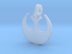 3d Star Wars Rebellion Pendant in Smoothest Fine Detail Plastic