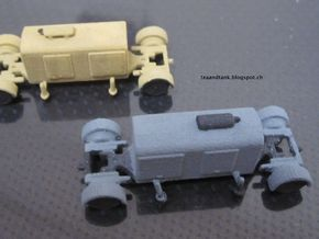 1/144 German Generator trailer in White Strong & Flexible