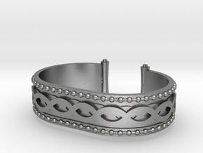 Scroll Bracelet in Raw Silver