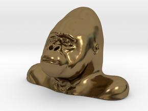 Gorilla Bust Sculpt in Polished Bronze