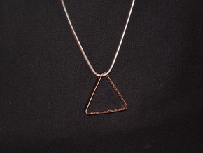 """""""Never Ever Give Up"""" Braille Triangle Pendant in 18k Gold Plated Brass"""