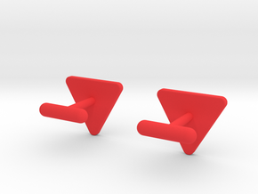 Cufflink Swedish Älg in Red Processed Versatile Plastic