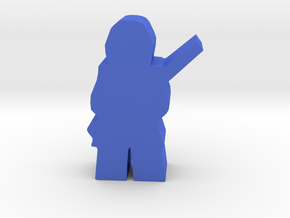 Civil War Soldier, standing, rifle in Blue Processed Versatile Plastic
